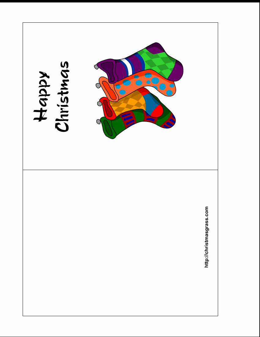 Printable Christmas Cards Templates – Happy Holidays