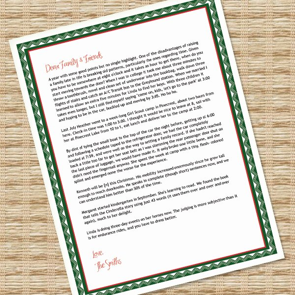 christmas letter templates for microsoft word
