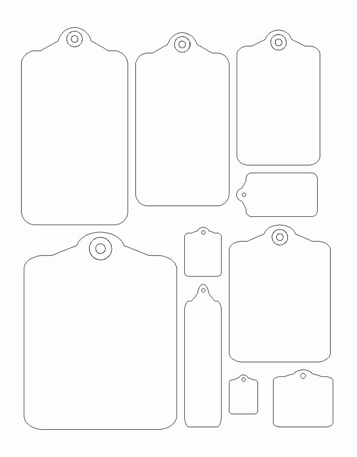 Printable Christmas Tag Templates – Happy Holidays