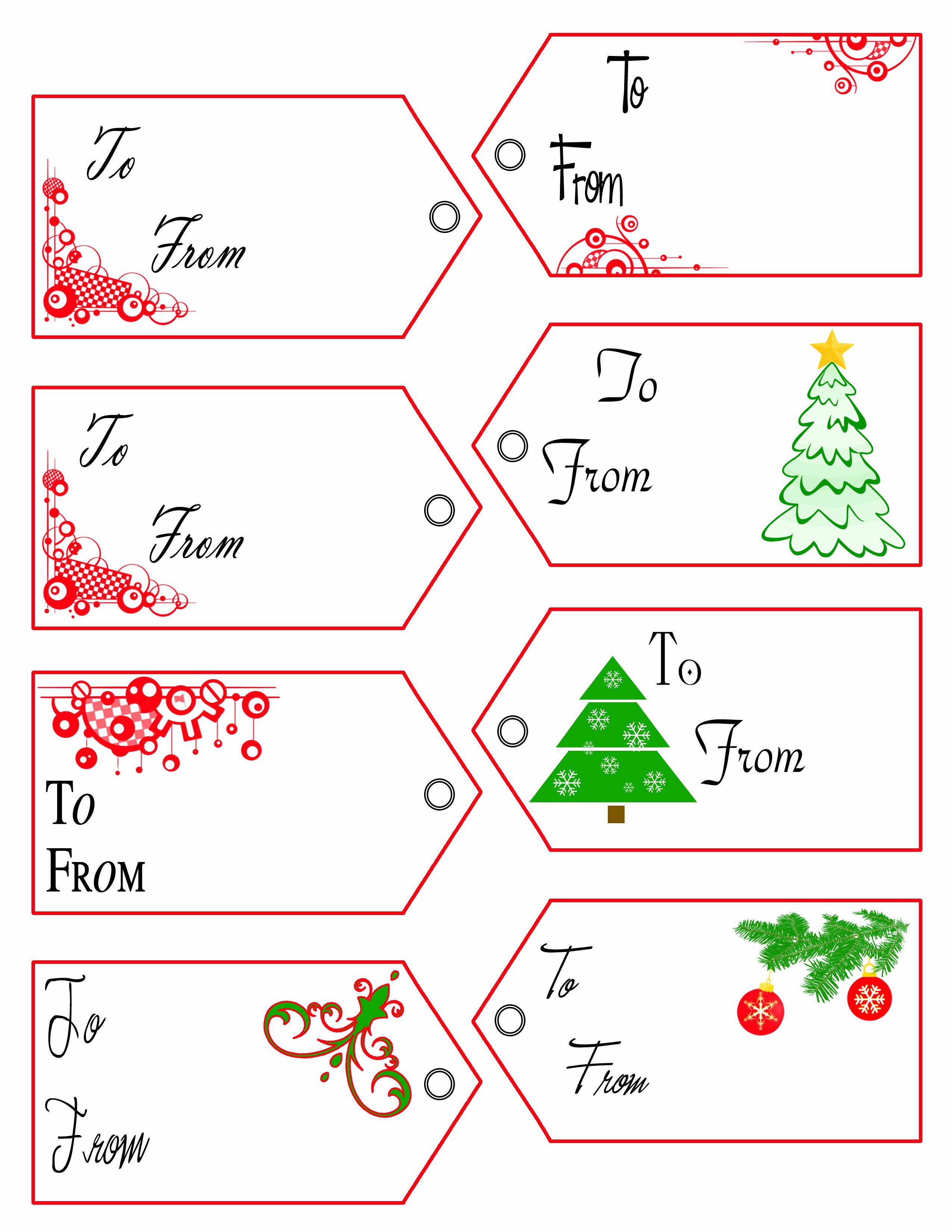 Printable Christmas Tag Templates – Happy Holidays