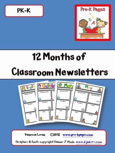 Printable Classroom Newsletters Preschool Kindergarten