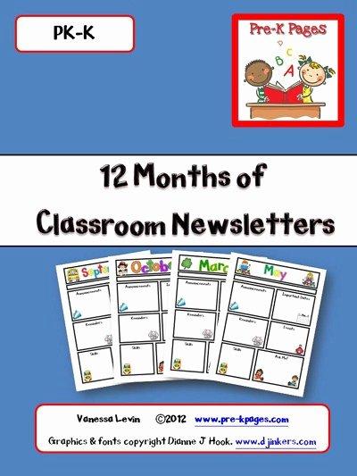 Printable Classroom Newsletters Preschool Kindergarten