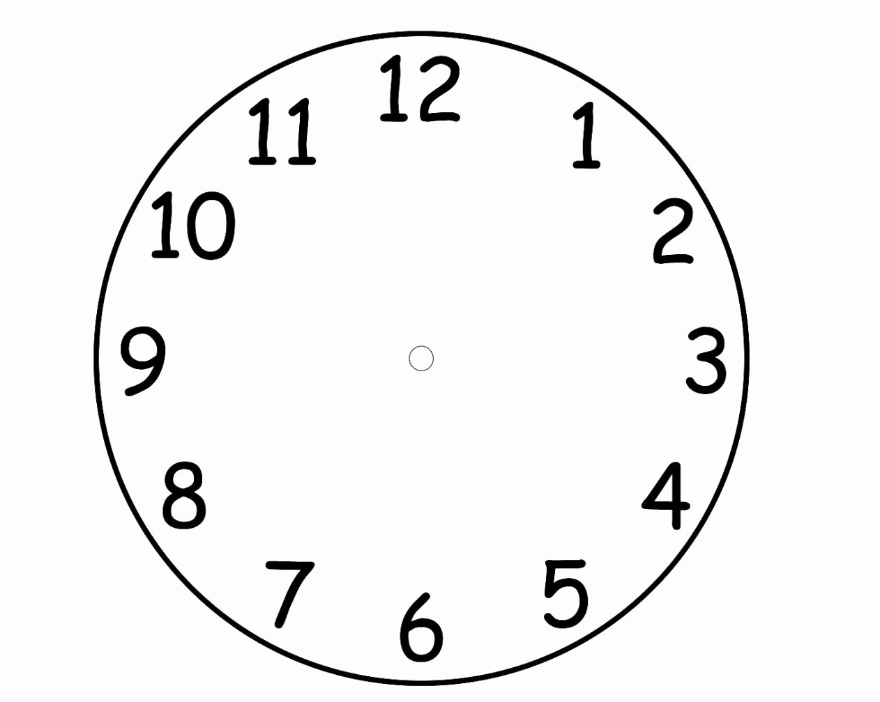 Printable Clock Face Template Pdf