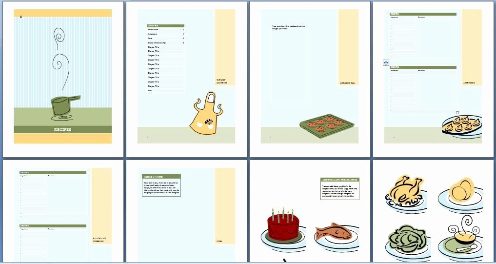 Printable Cookbook Template for Word
