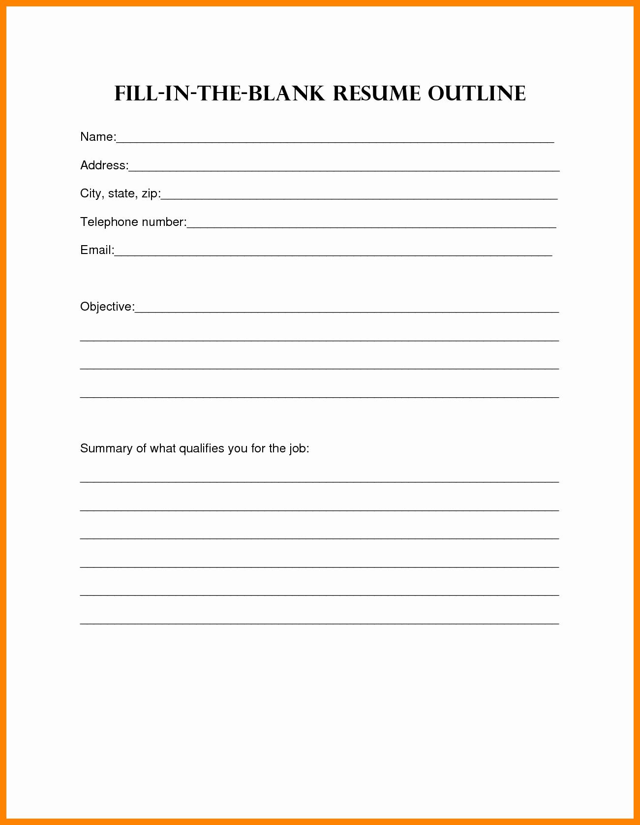 Printable Cv Template Printable Pages