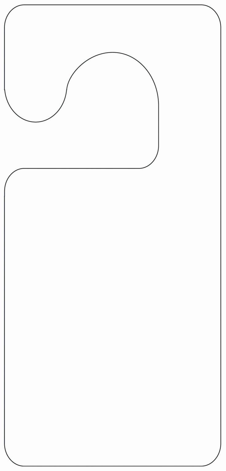 Printable Door Hanger Template