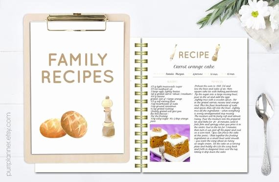 printable editable recipe pages recipe