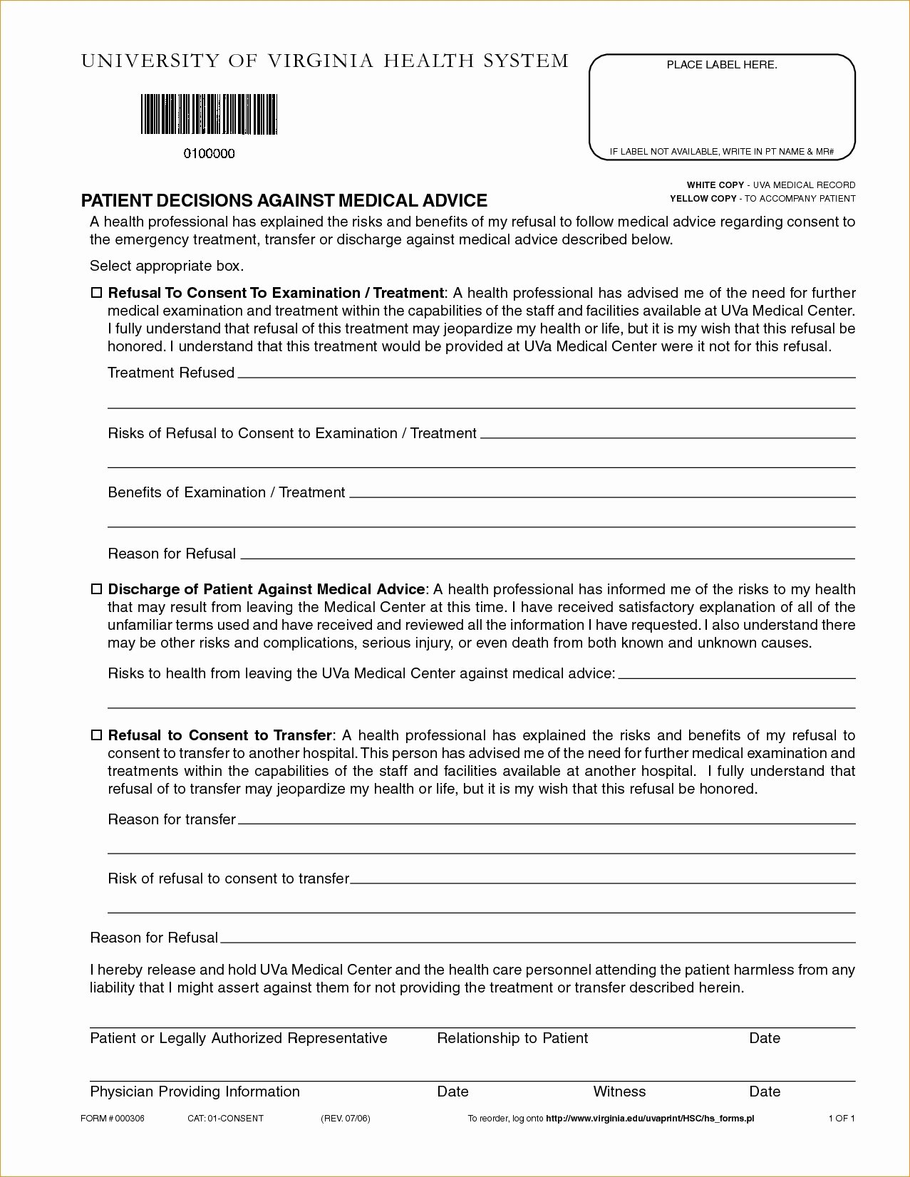 Printable Fake Hospital Discharge Papers