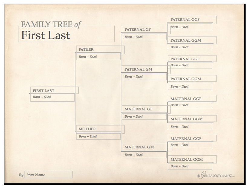 Printable Family Tree Template – Allcrafts Free Crafts Update