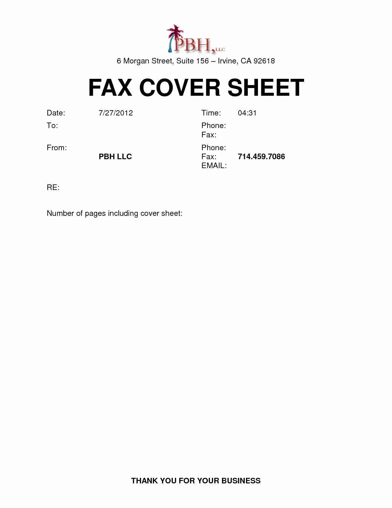 Printable Fax Cover Sheet Template Famous Blank Fax Cover