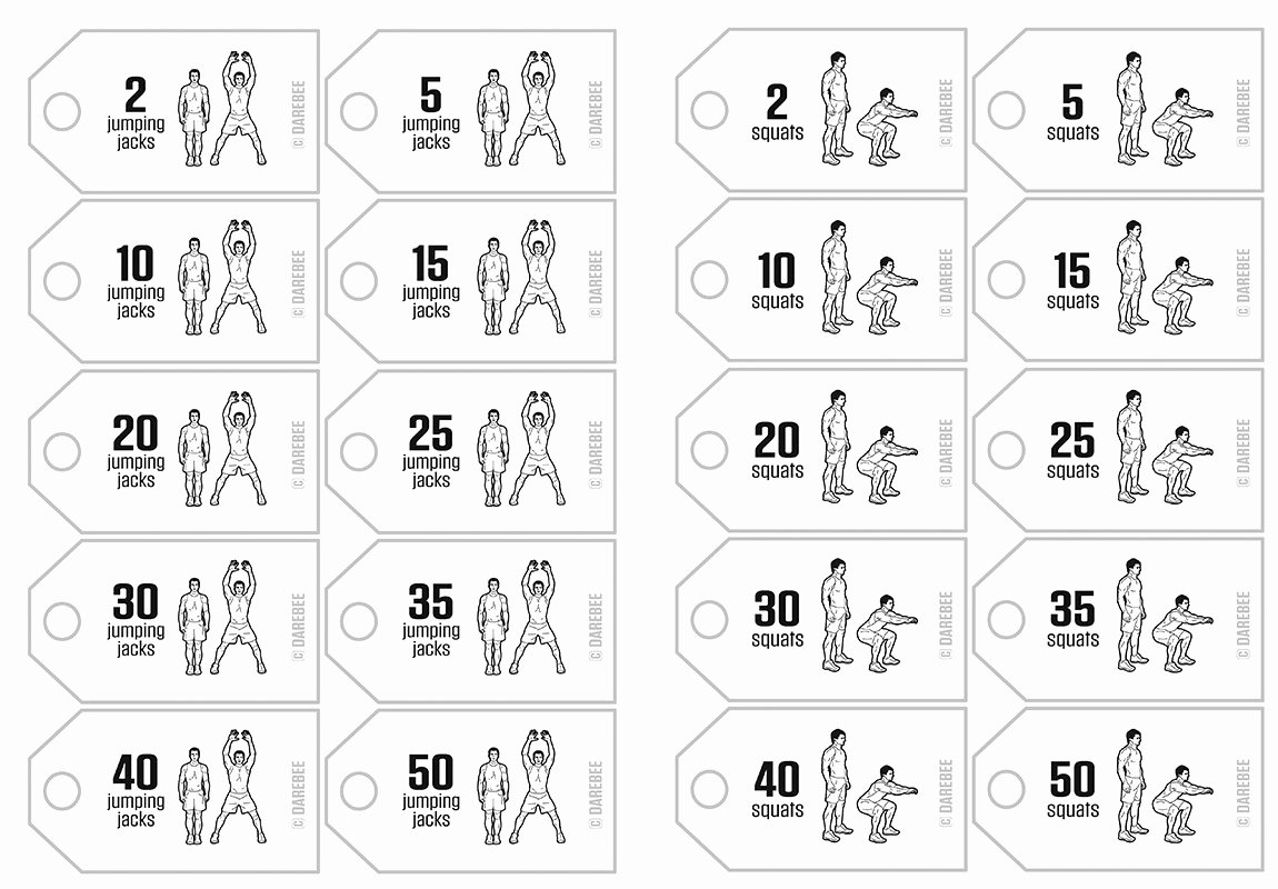 Printable Fitness Pricetags