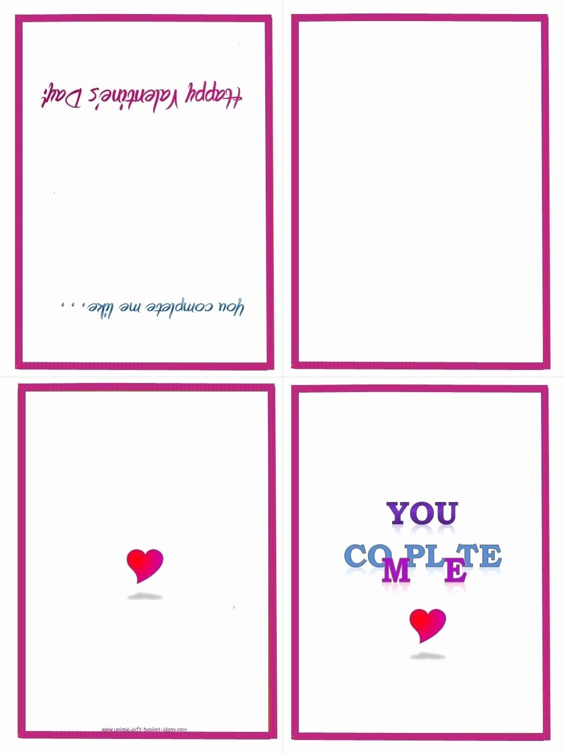 Printable Folding Card Template