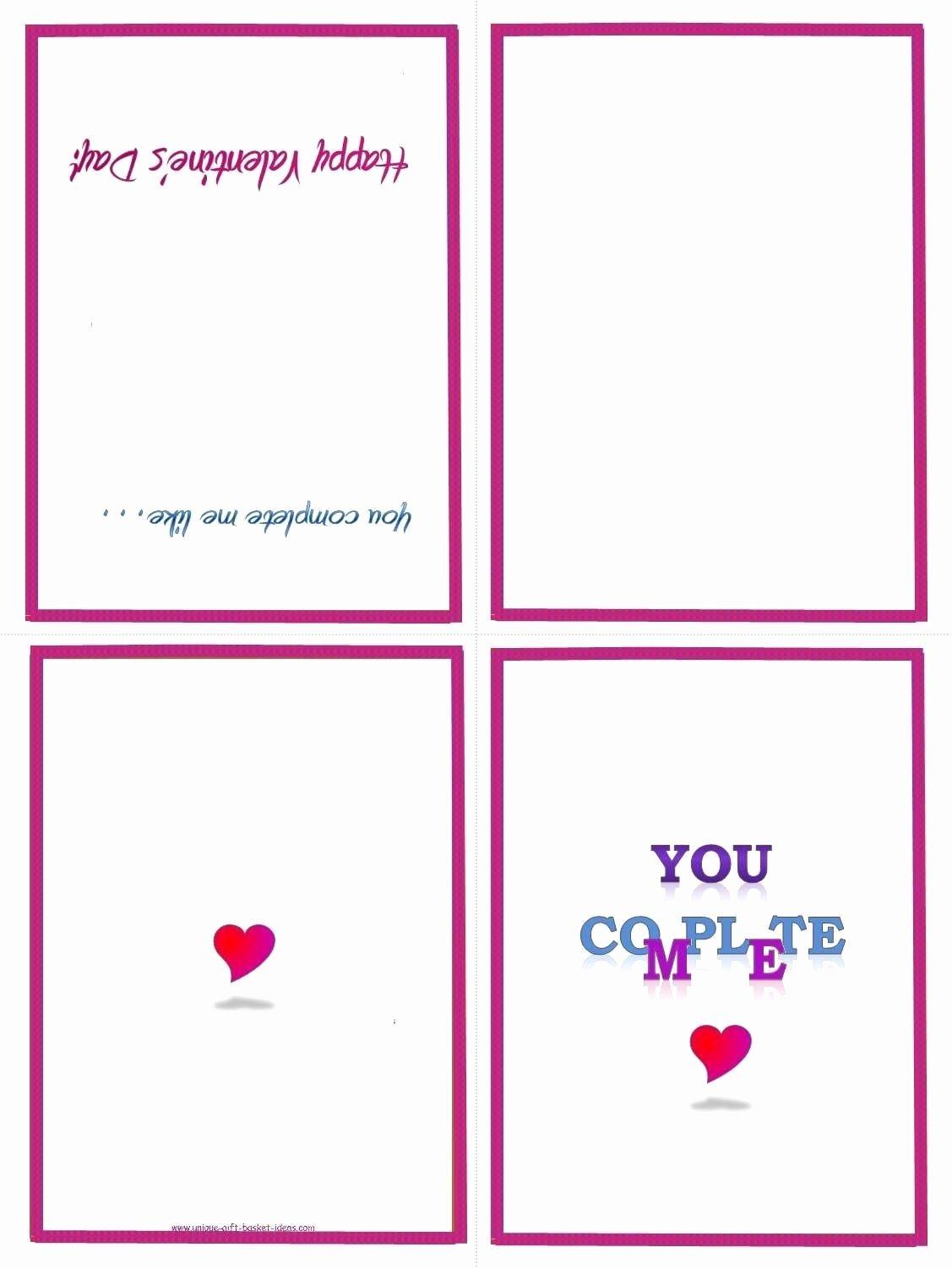 Printable Folding Card Template