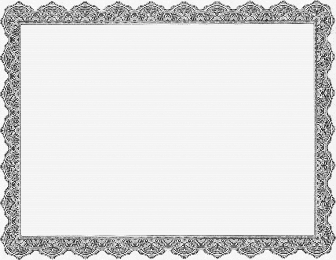 Printable Frame Blank Certificate Blank Gray Business