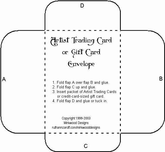 Printable Gift Card Envelope Template