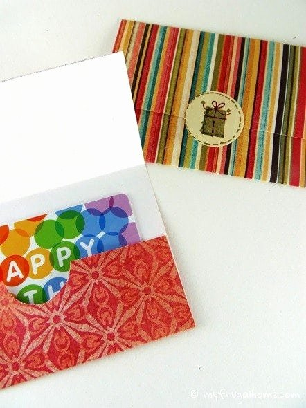 Printable Gift Card Holder Templates