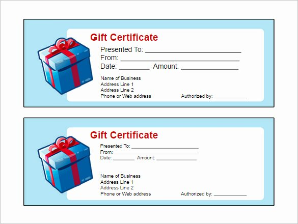 Printable Gift Certificate Template Free Google Doc