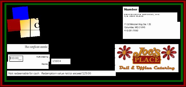 Printable Gift Certificates for Restaurants Gift Ftempo