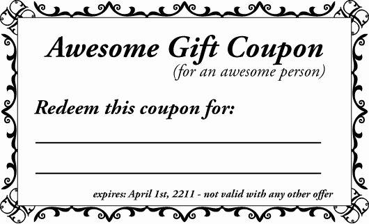 Printable Gift Coupon Templates for Birthdays for Any