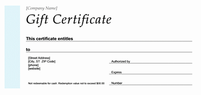Printable Golf Christmas Gift Certificate Template