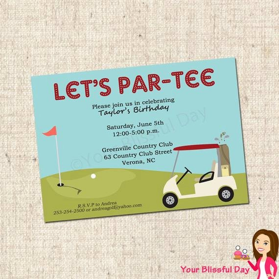 Printable Golf Party Invitation by Your Blissful Day