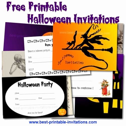 Printable Halloween Birthday Party Invitations – Festival