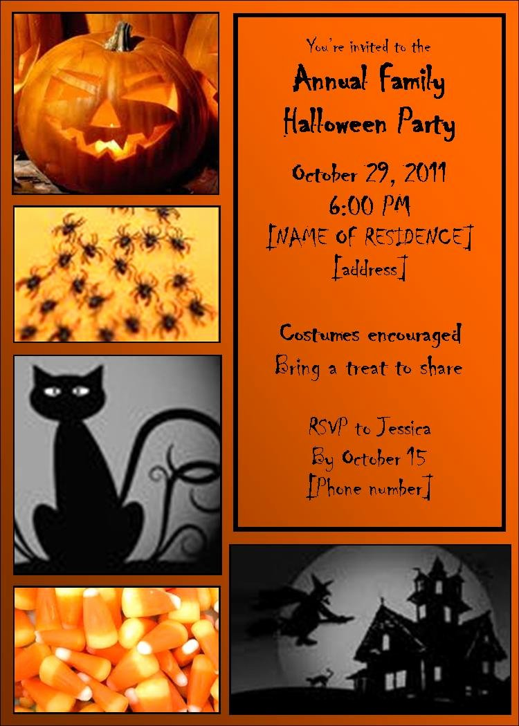 Printable Halloween Party Invitations Template