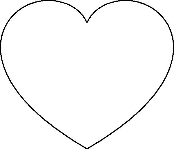 Printable Heart Stencil