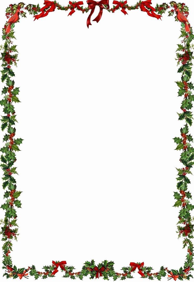 Printable Holiday Newsletter Border