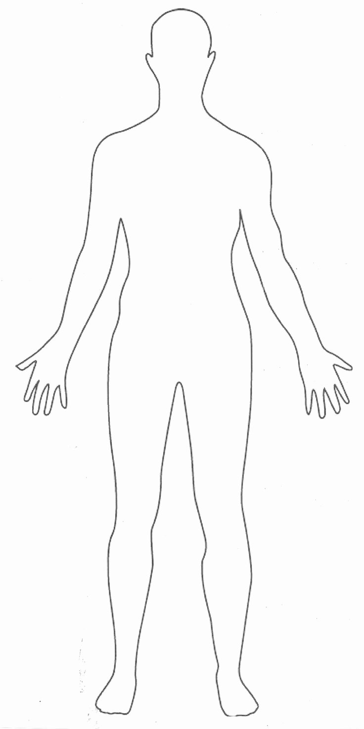 Printable Human Body Outline Party Fashion