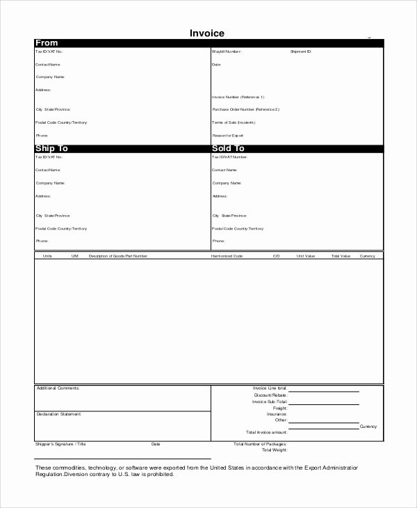 Printable Invoice Sample 10 Examples In Word Pdf