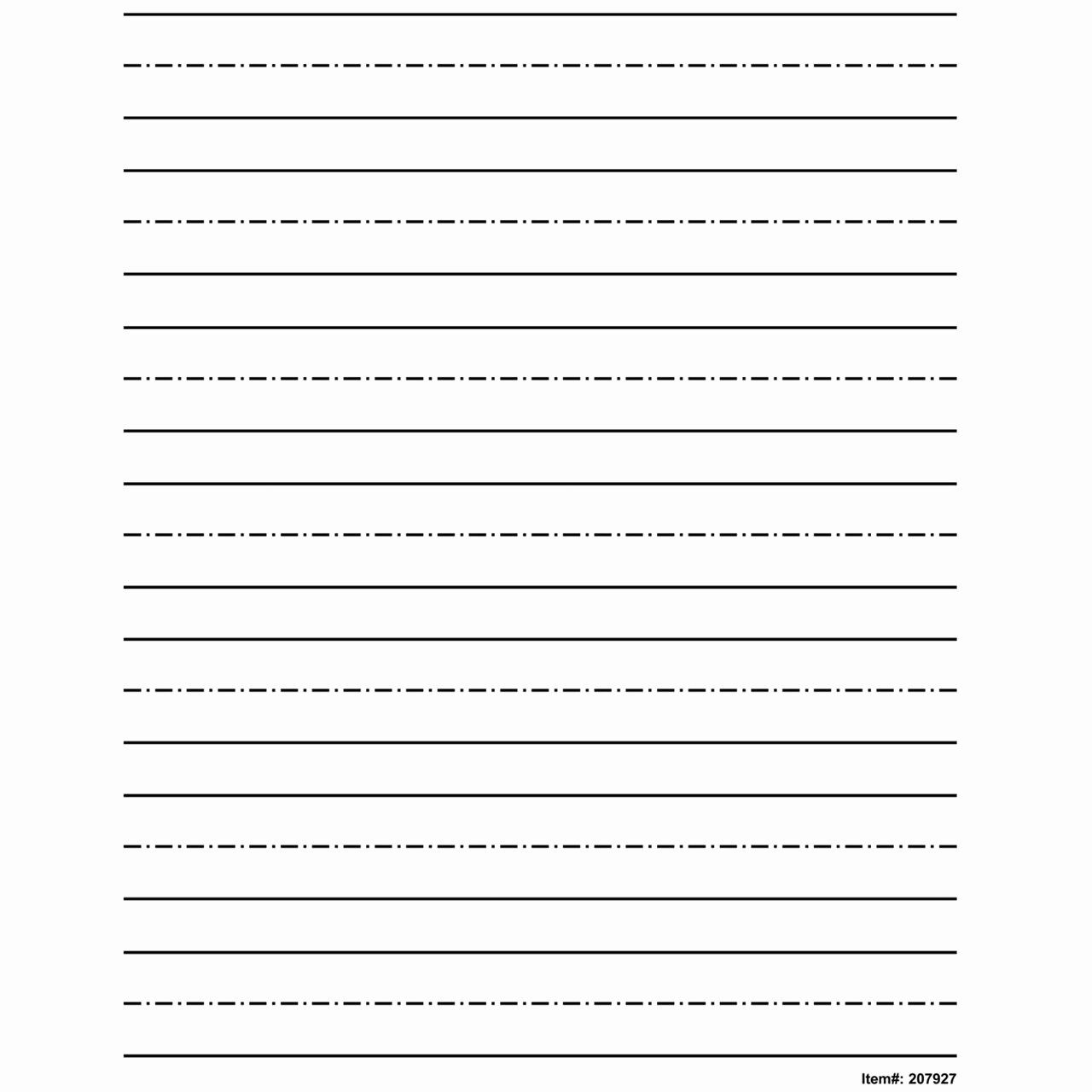 Printable Kindergarten Writing Paper with Picture Box
