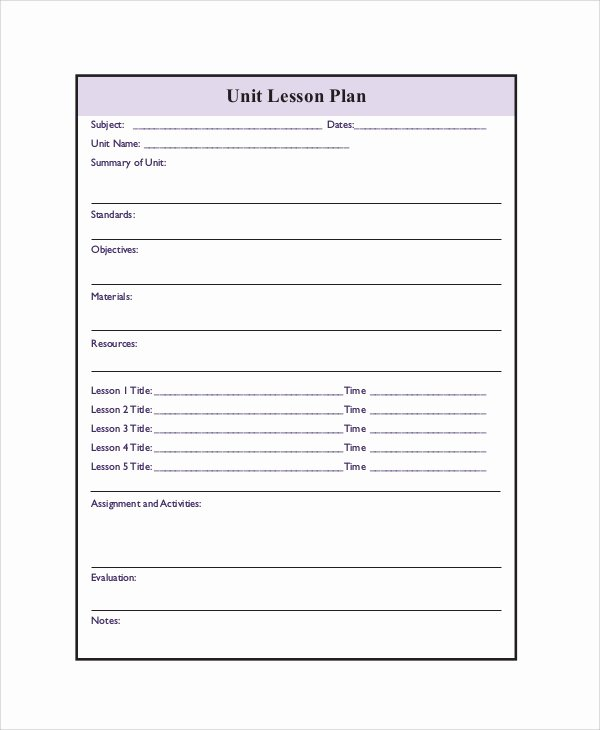 Printable Lesson Plan 7 Free Word Pdf Documents