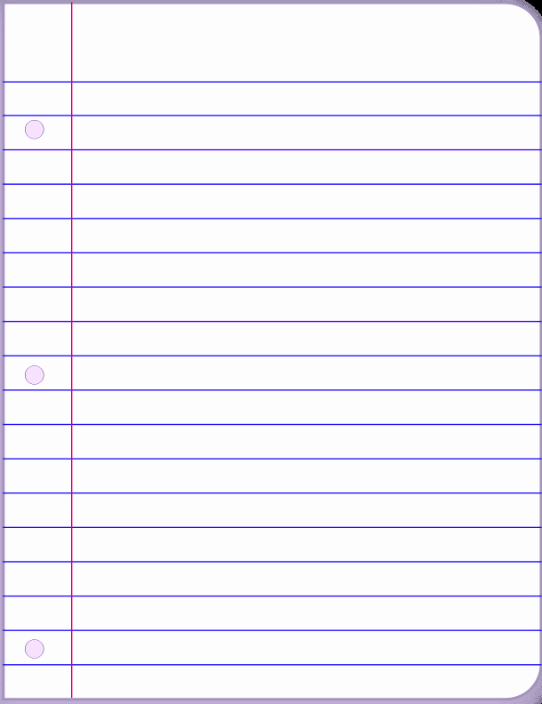 Printable Lined Paper Template Word A4