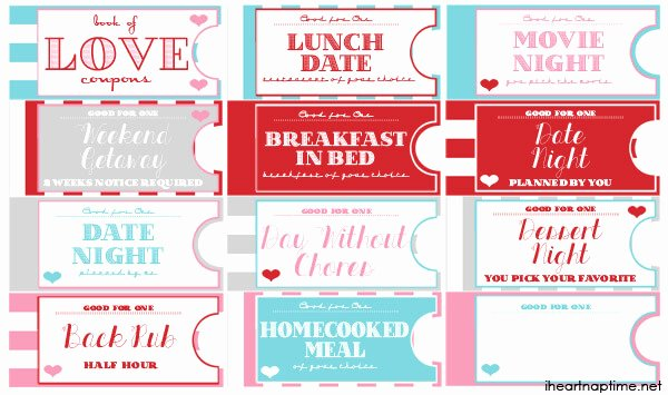 Printable Love Coupon Book the Perfect Valentine S Day T