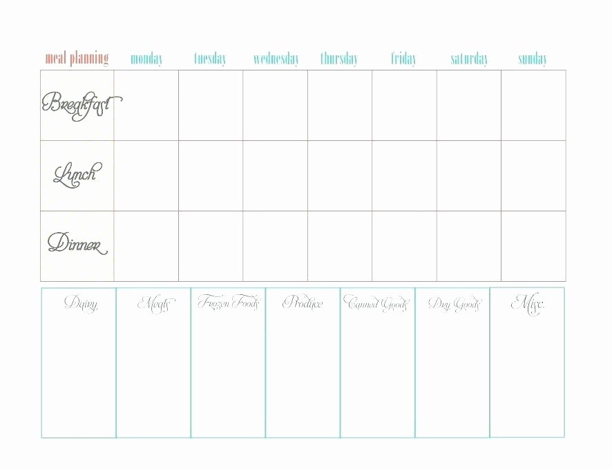 Printable Meal Plan Template Diabetic Food Diary Excel