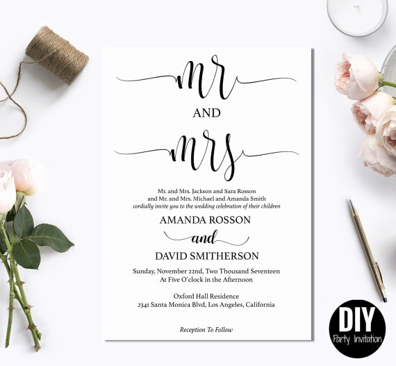 Printable Modern Rustic Invitation Templates