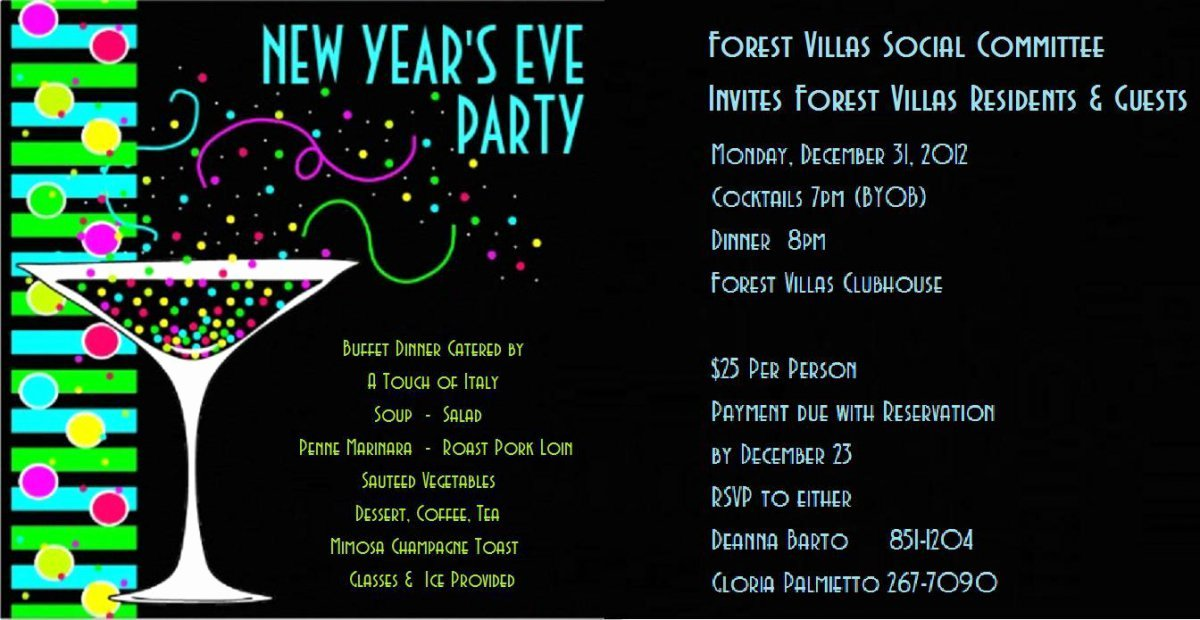 Printable New Years Eve Party Invitations Free