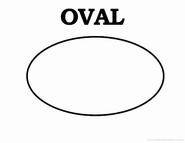 Printable Oval Shape Learning Pinterest