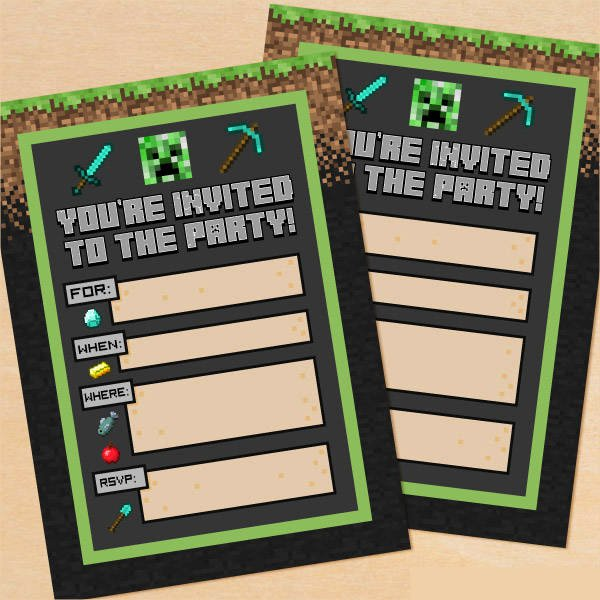 Printable Party Invitations 9 Free Psd Vector Ai Eps