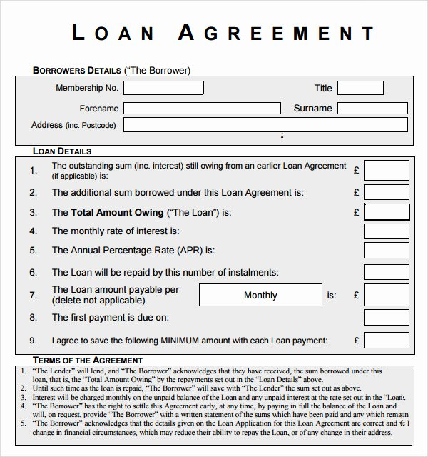 Printable Personal Loan Agreement Two Parties Contract