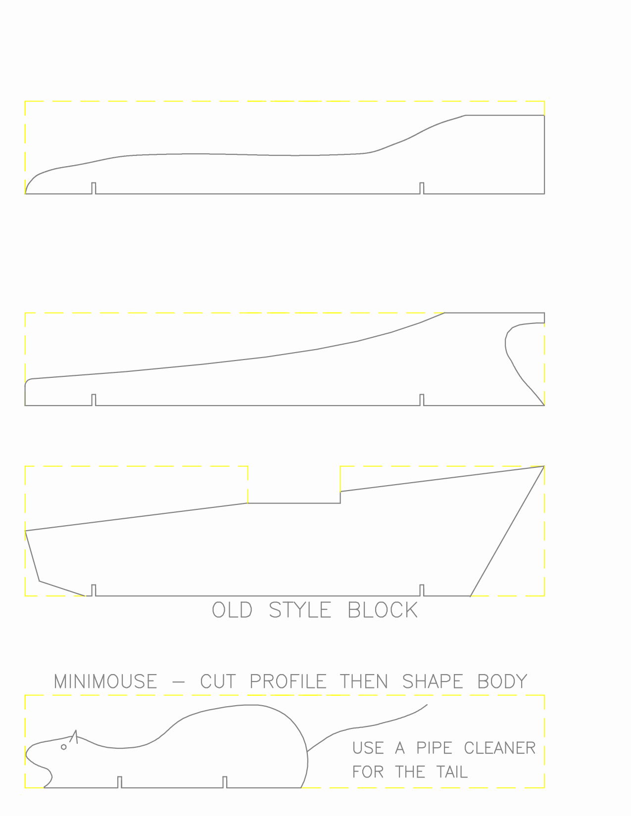 Printable Pinewood Derby Car Templates