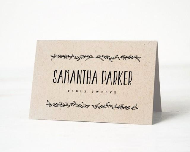 Printable Place Card Template Wedding Place Cards Editable Artwork Color Escort Card Wedding