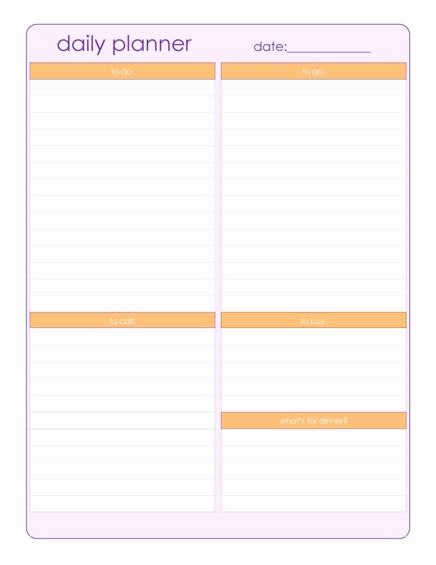 Printable Planner Templates