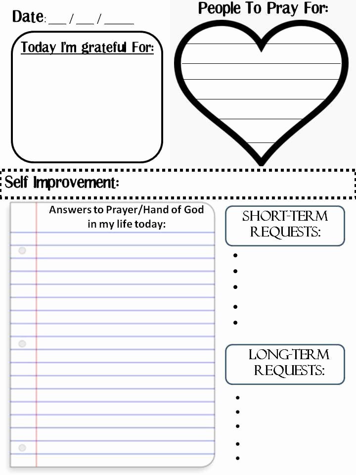 Printable Prayer Request Template