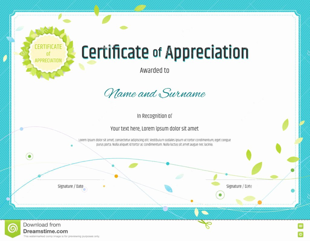 Printable Printable Certificate Of Appreciation Templates