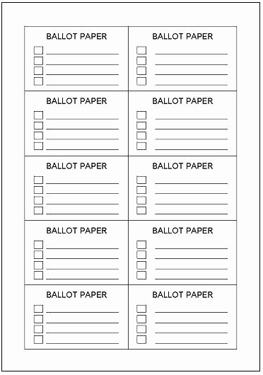 Printable Raffle Ticket Templates Free Ballot Template