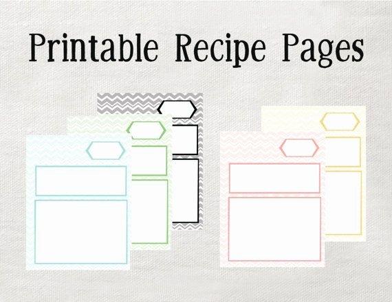 Printable Recipe Binder Pages Microsoft Word Editable
