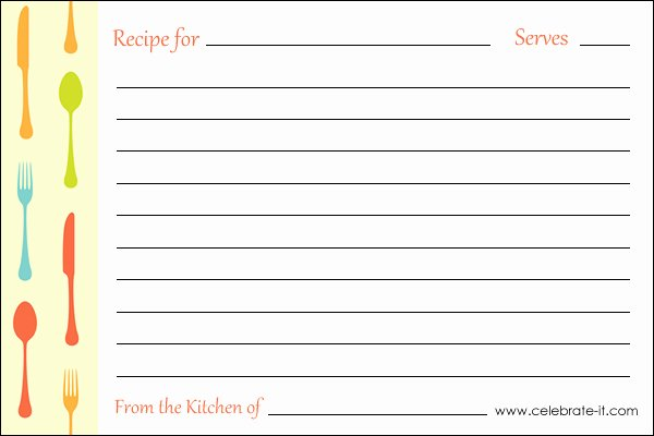 Printable Recipe Cards Pour Tea and Coffee