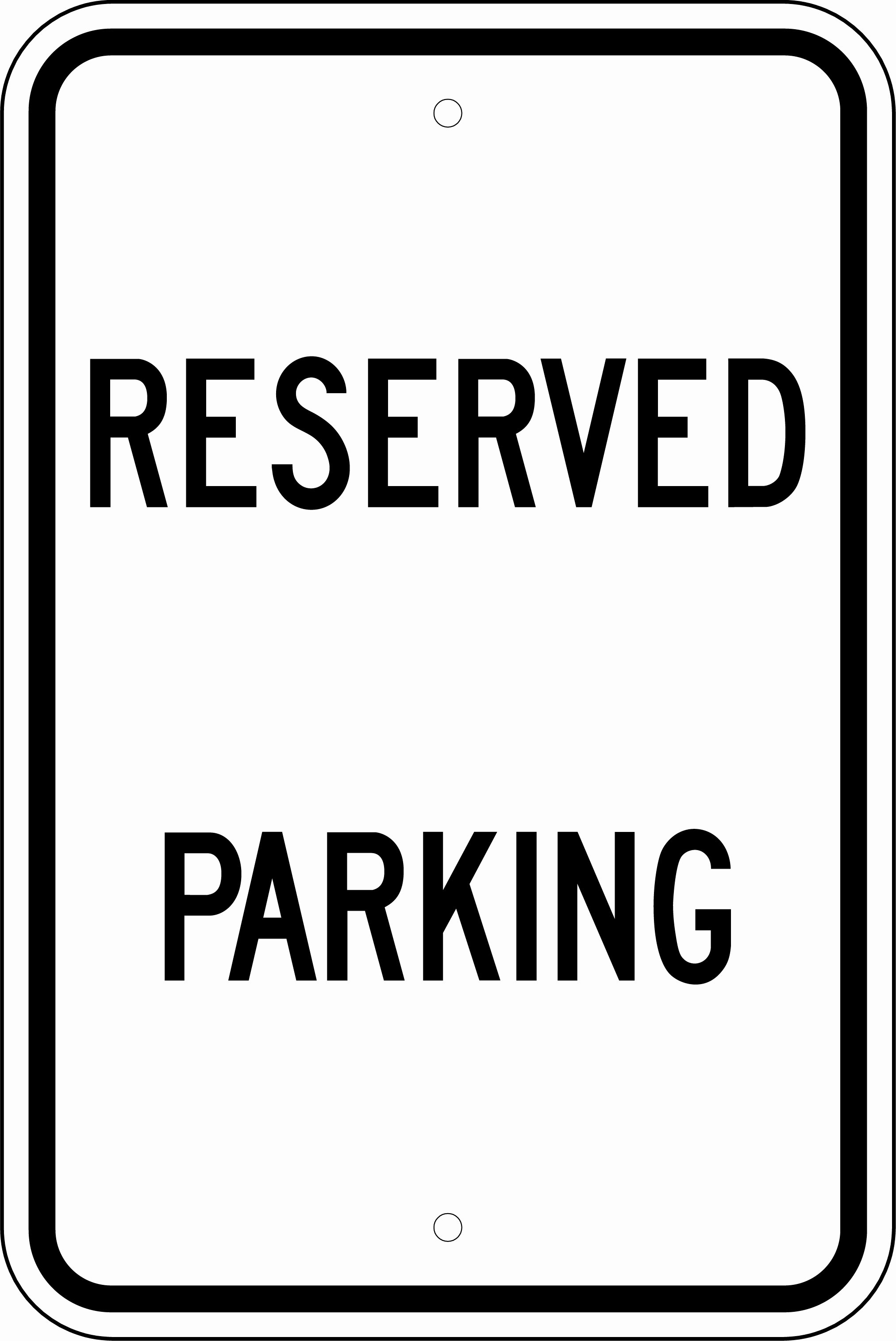 Printable Reserved Parking Sign to Pin On